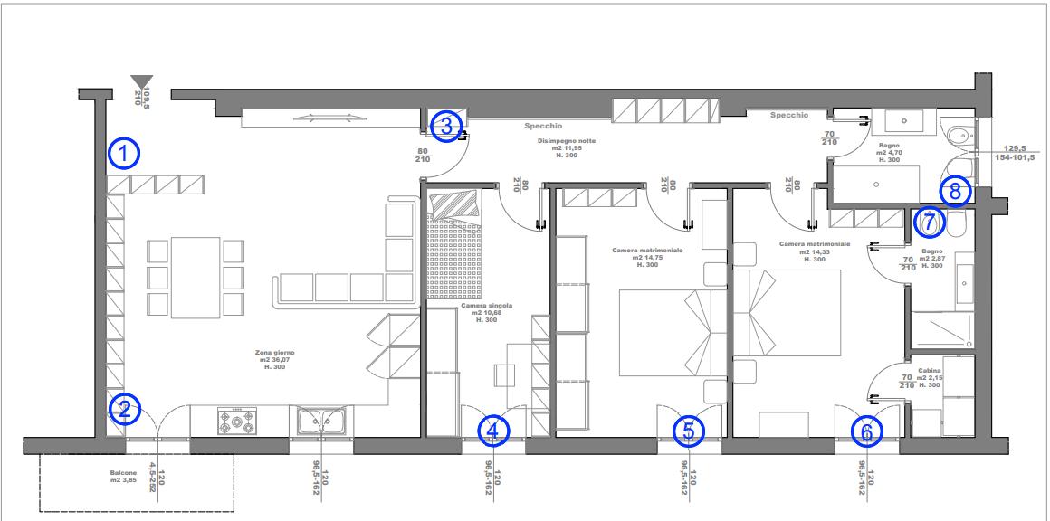 Appartamento in vendita Bologna Zona Marconi